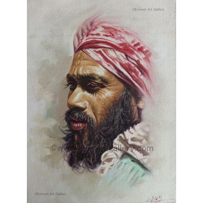 Sadhu with turban